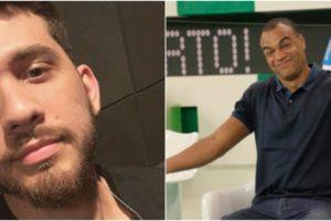 Gustavo Mioto cobrou doação de Denilson após ex-jogador invadir sua live (Reprodução)