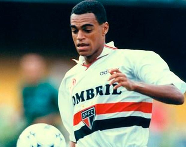 O jogador em sua estadia pelo São Paulo (Foto: reprodução)