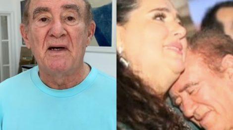 Renato Aragão, o Didi e atual esposa (Foto montagem)