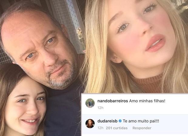 Duda Reis e o pai, Nando Barreiros, se declaram na internet (Foto: Reprodução / Instagram)