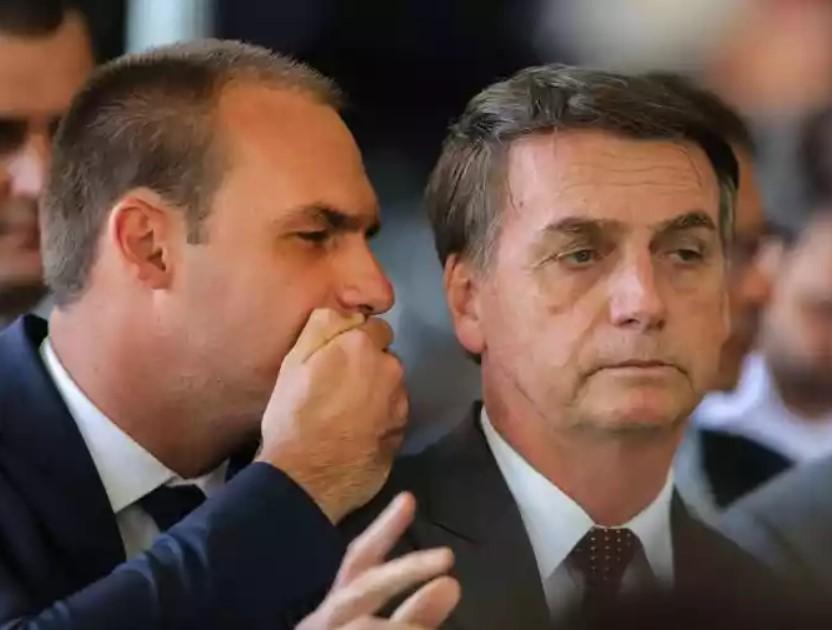 Eduardo Bolsonaro apareceu em vídeo polêmico - Foto: Reprodução