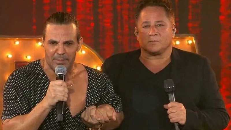 Eduardo Costa e Leonardo apareceram juntos na TV - Foto: Reprodução