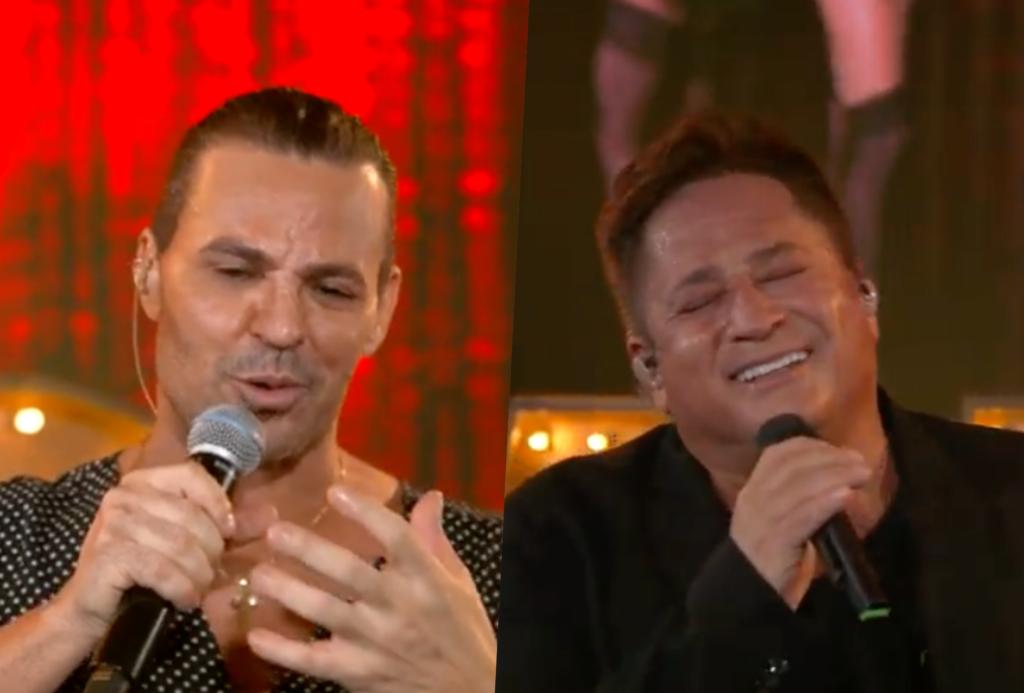 Eduardo Costa e Leonardo se apresentaram na live Cabaré (Foto montagem)