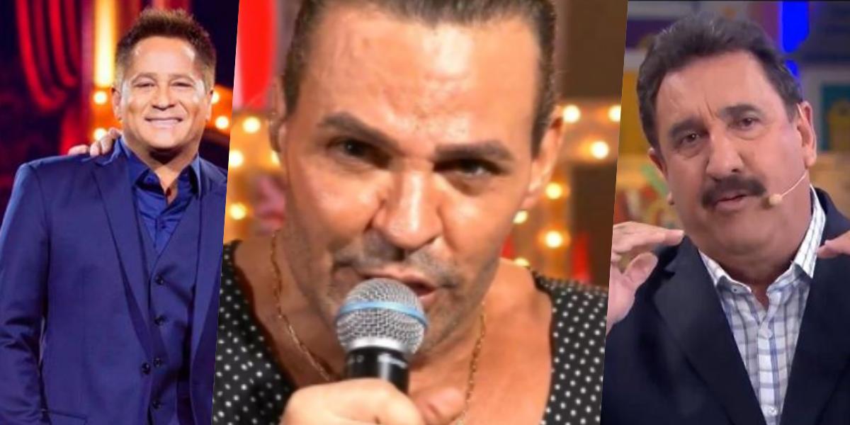 Eduardo Costa, Ratinho e Leonardo viraram assunto (Foto montagem)