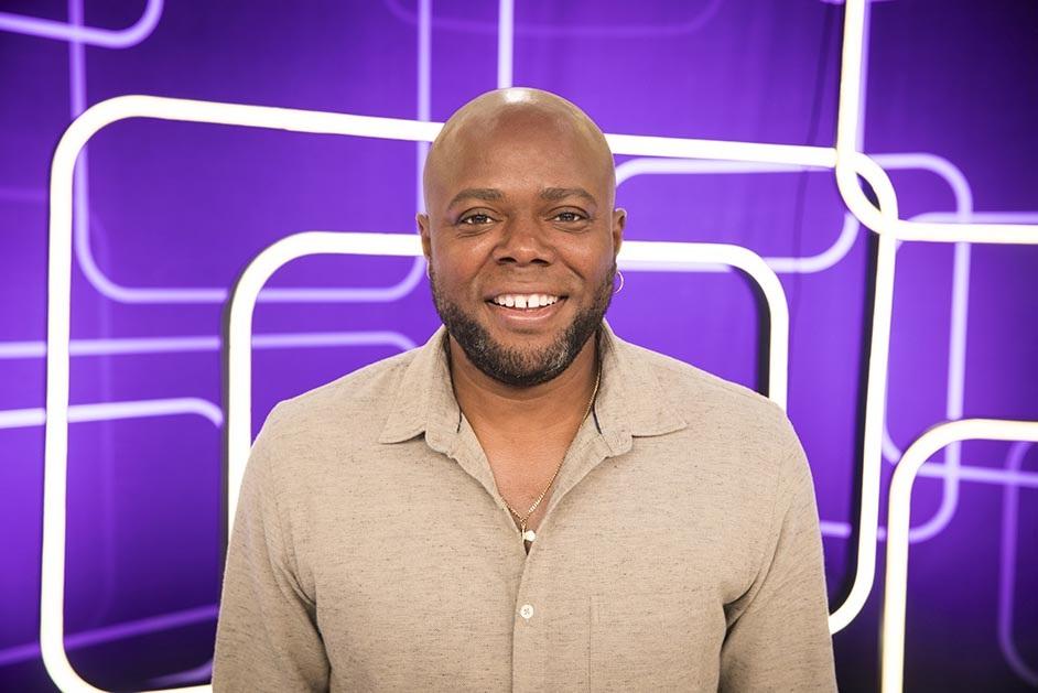 O apresentador Érico Brás no 'Se Joga' (Foto: Divulgação/Globo)