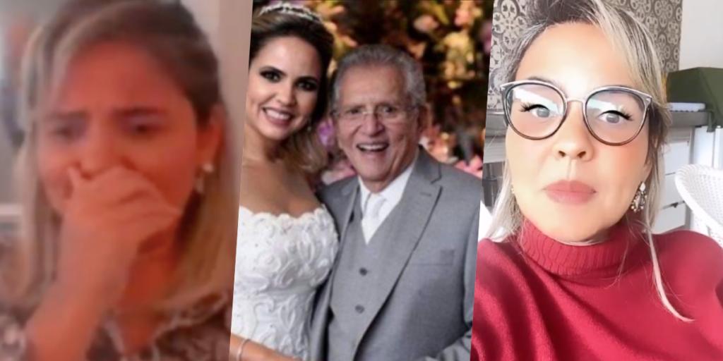 A atual esposa de Carlos Alberto, deu o que falar ao vivo (Foto montagem)