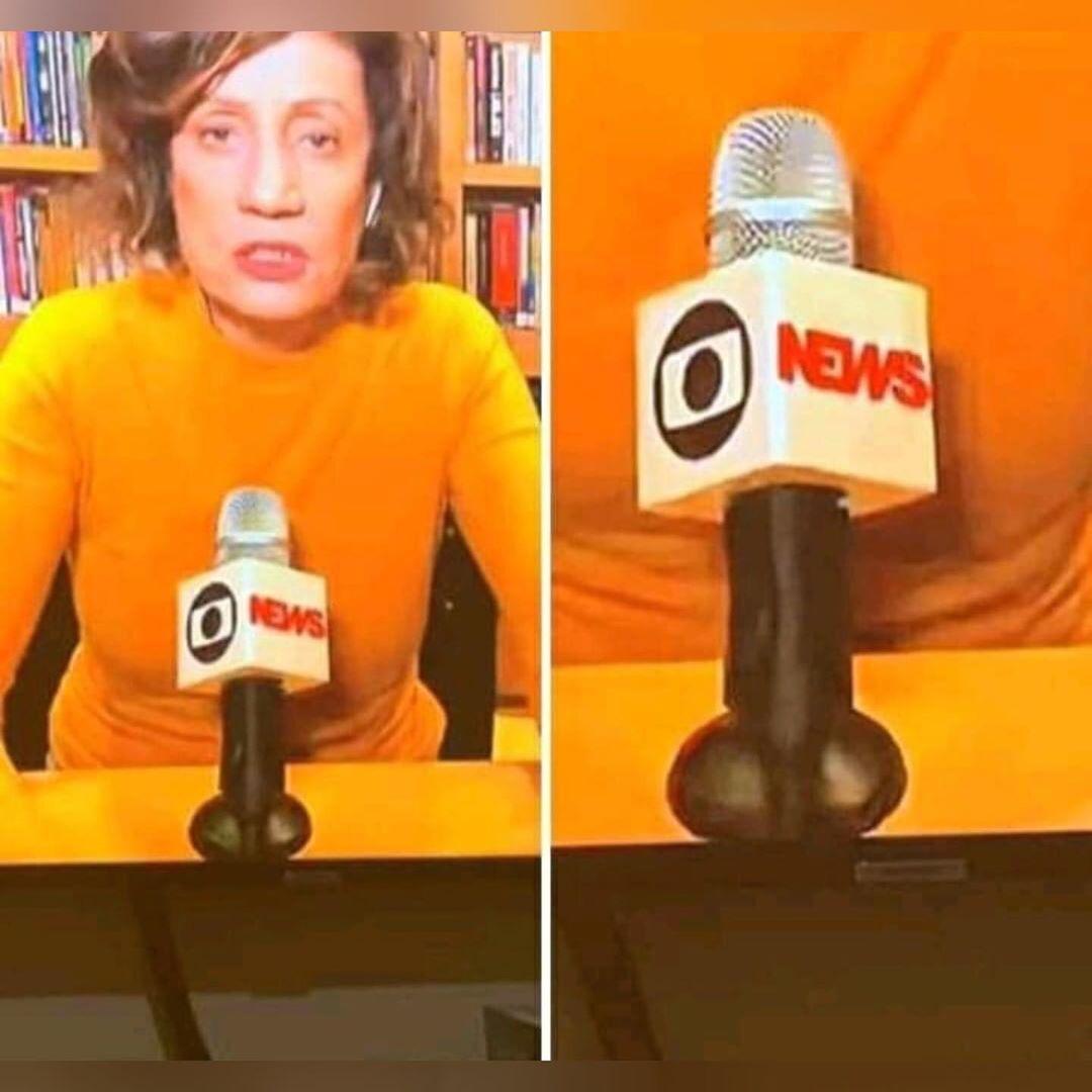 Miriam Leitão virou piada após aparição ao vivo (Foto: Reprodução/TV Globo)