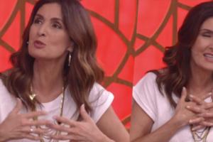 Fátima Bernardes, ao vivo, não escondeu realidade e acabou envolvendo o ex-marido (Foto montagem: TV Foco)