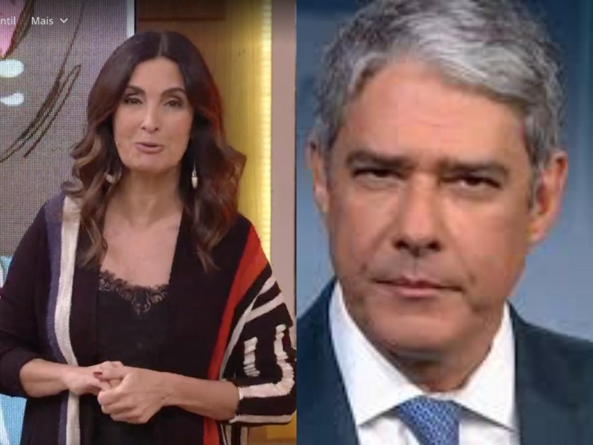 A famosa apresentadora do Encontro, Fátima Bernardes surpreendeu ao falar sobre William Bonner (Foto: Reprodução/Globoplay/Montagem TV Foco)