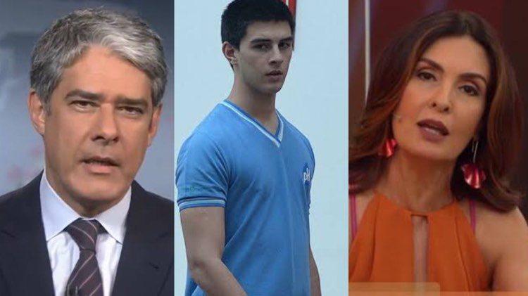Vinícius Bonemer, foi vítima de uma esquema de fraude e Fátima Bernardes comentou o caso no Encontro da Globo (Montagem: TV Foco)