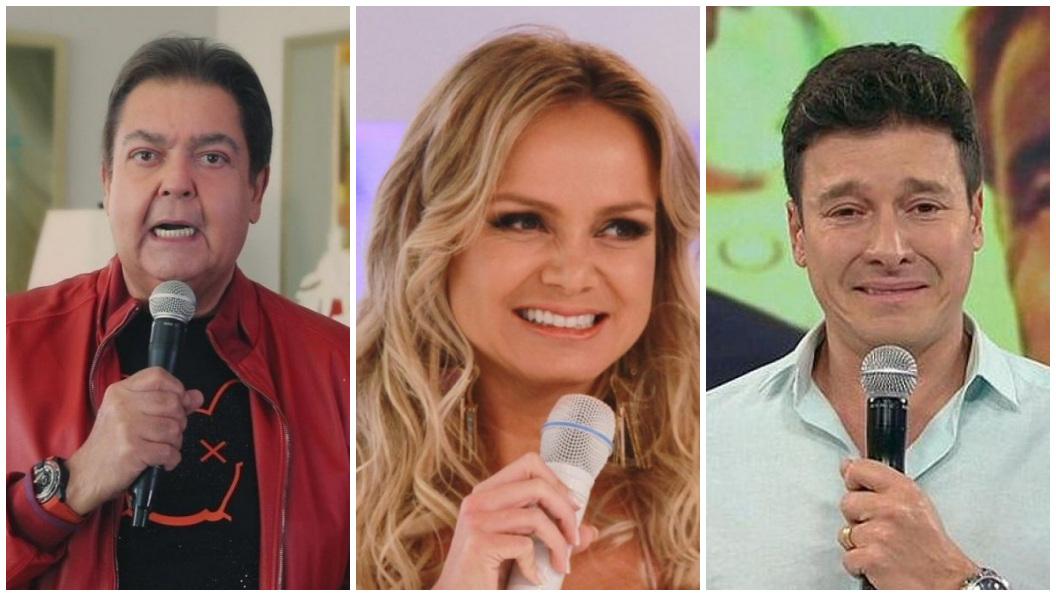 Faustão e Rodrigo Faro ficaram atrás de Eliana em audiência - Foto: Reprodução