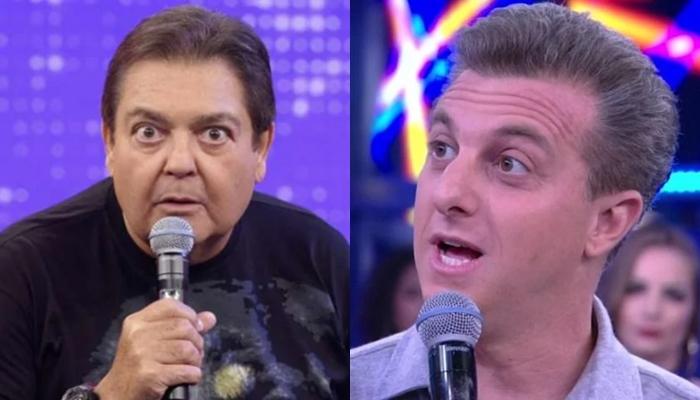 Faustão custa o dobro para veicular anúncio comparado com Luciano Huck (Foto: Reprodução/Globo/Montagem)