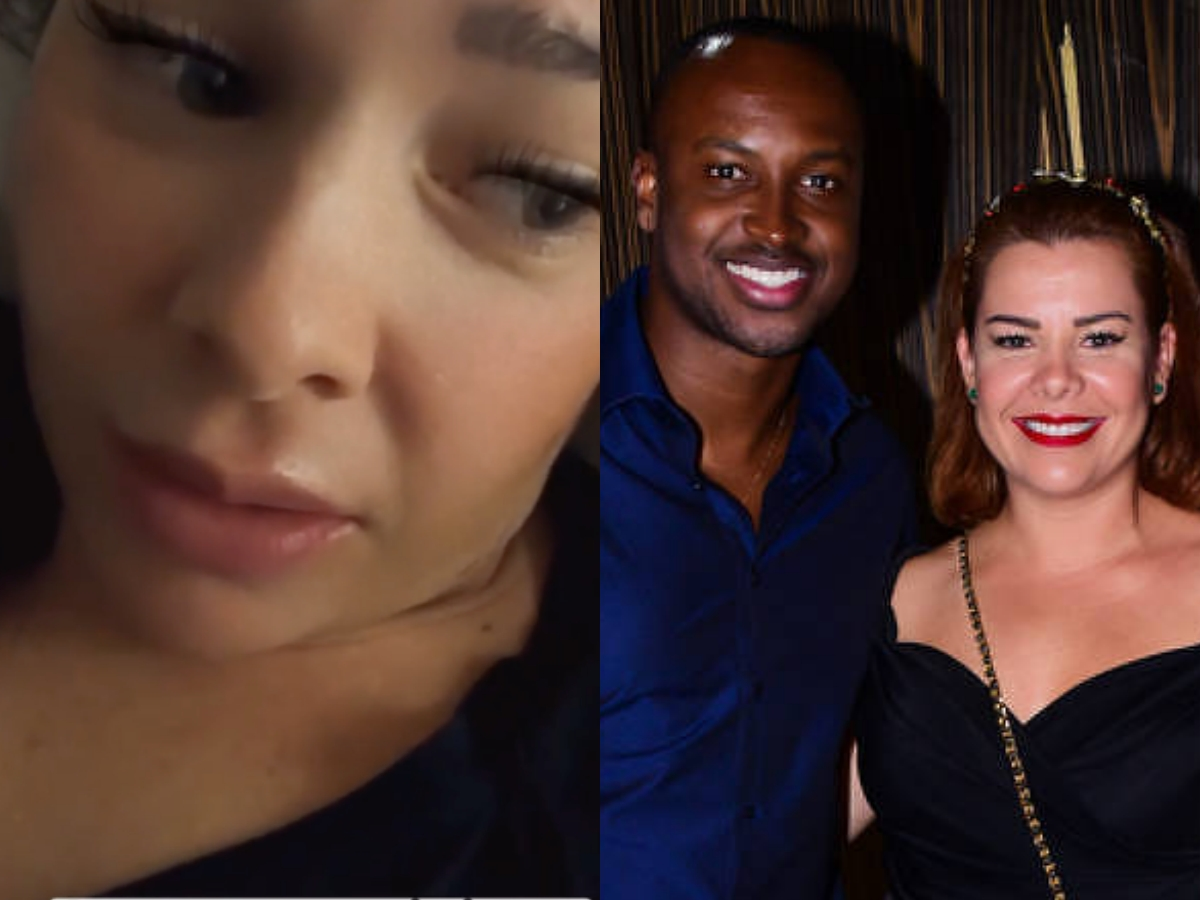 A famosa ex-atriz da Globo e ex-mulher de Thiaguinho, Fernanda Souza agitou as redes sociais (Foto: Reprodução/Montagem TV Foco)