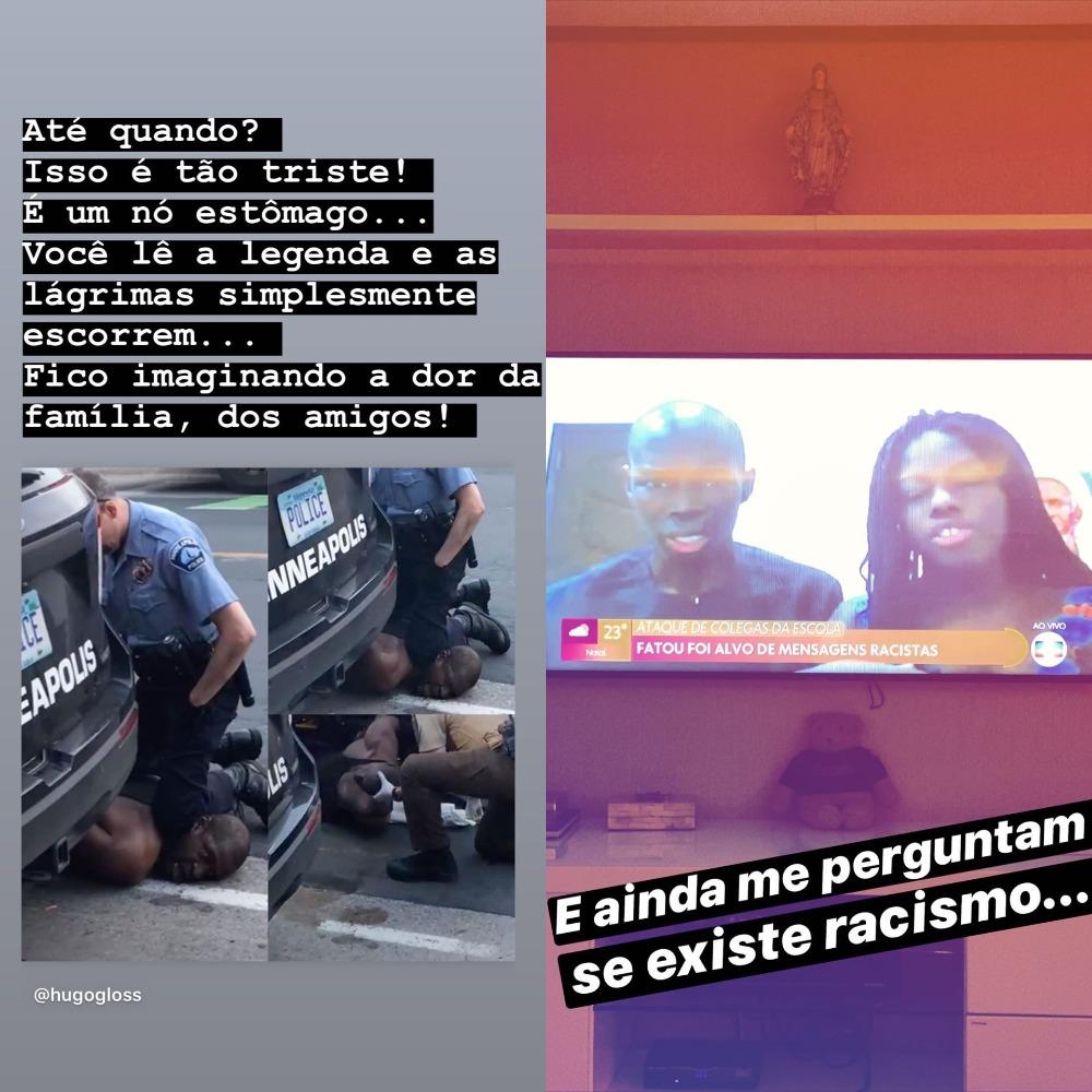 Ex-casal fez protesto nas redes sociais (Foto: Reprodução/Instagram)