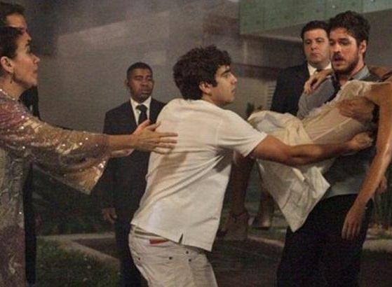 Rafael salva a vida de Amália em Fina estampa (foto: Reprodução)