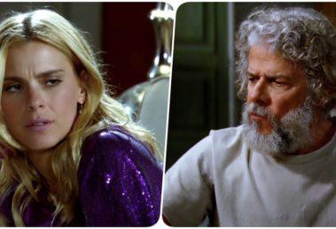 Fotomontagem de Teodora e Pereirinha da novela Fina Estampa
