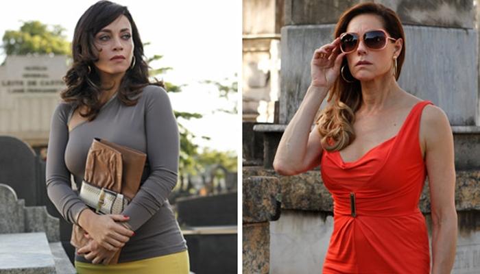 Marcela (Suzana Pires) aparece viva e assombra Tereza Cristina (Christiane Torloni) em Fina Estampa (Foto: Divulgação/Globo)