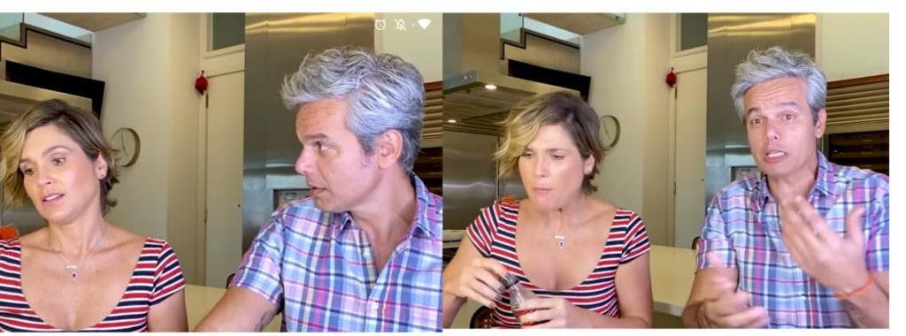 """Flávia Alessandra e Otaviano Costa brincam de """"Eu Nunca"""" (Foto: Reprodução/YouTuber)"""