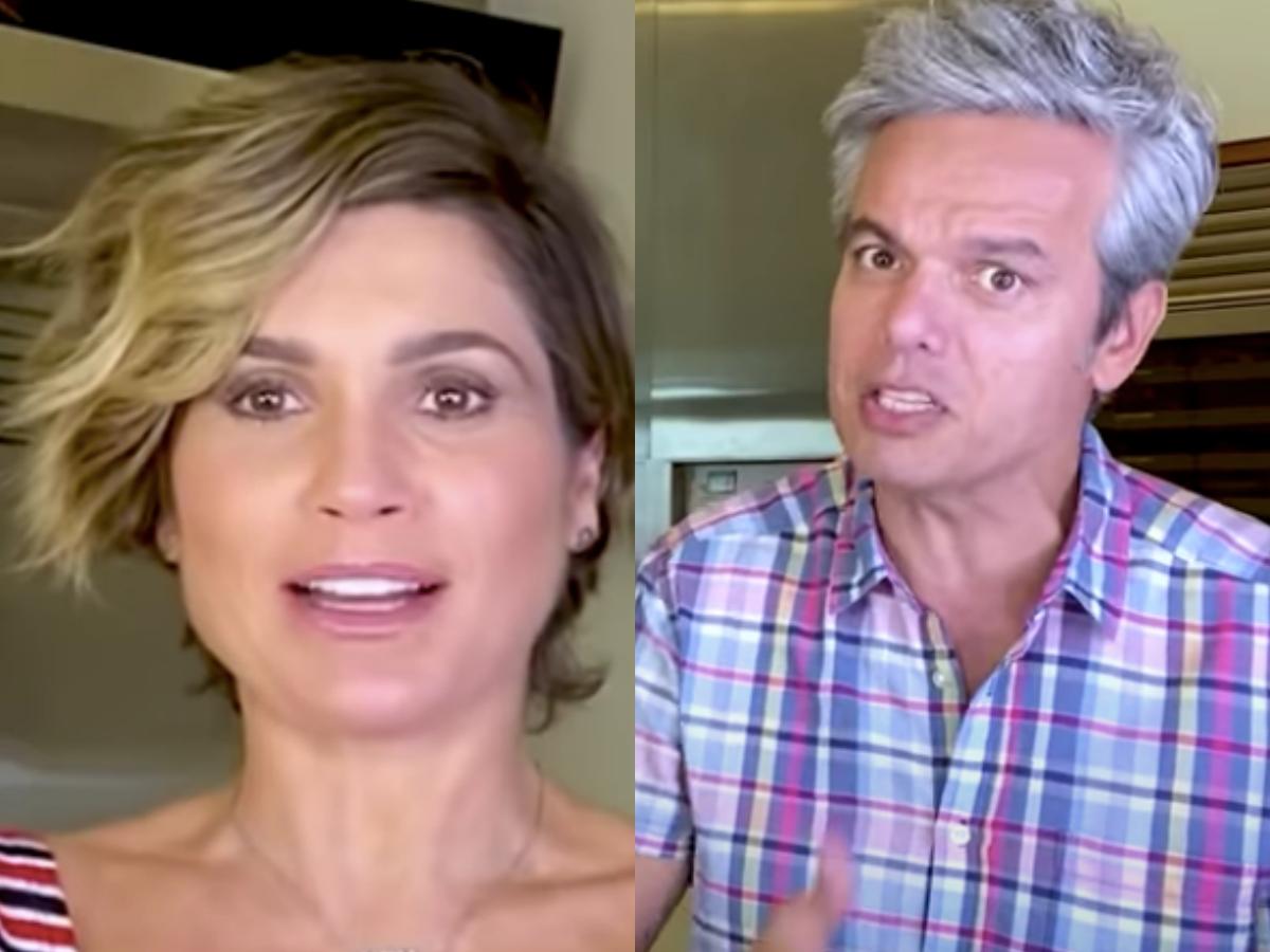 A famosa atriz da Globo e o seu marido Otaviano Costa, Flávia Alessandra agitaram as redes sociais ao falarem sobre assuntos picantes em vídeo polêmico (Foto: Reprodução/Youtube/Montagem TV Foco)