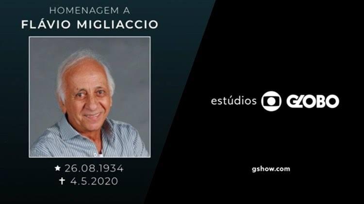 Flávio Migliaccio recebe homenagem emocionante em Êta Mundo Bom (Imagem: Globo)
