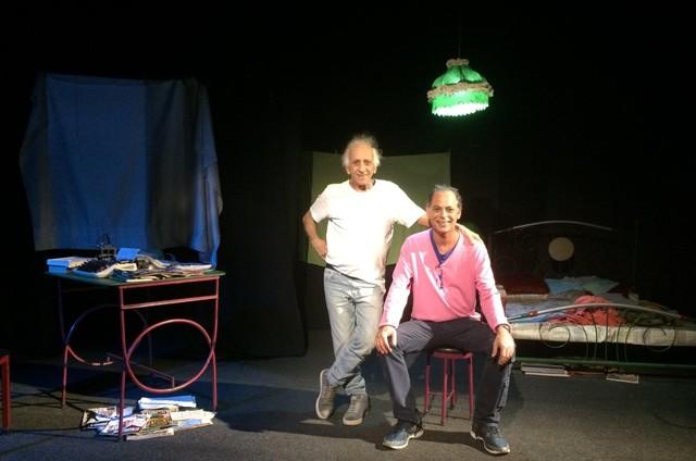 Flávio Migliaccio com o seu filho, Marcelo Migliaccio (Foto: Reprodução)