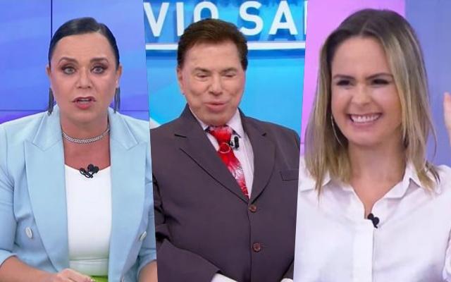Flor, Silvio Santos e Ana Paula Renault (Foto: SBT)