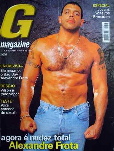 A Edição da G Magazine 49 foi com Alexandre Frota na Capa foi a mais vendida (Imagem: Reprodução)