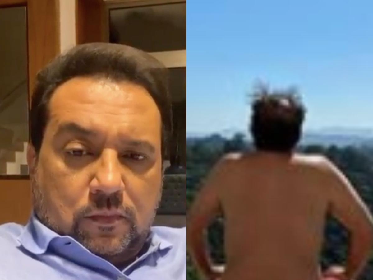 O famoso âncora e apresentador da Record, Geraldo Luis (Foto: Reprodução/Instagram/ Montagem TV Foco)