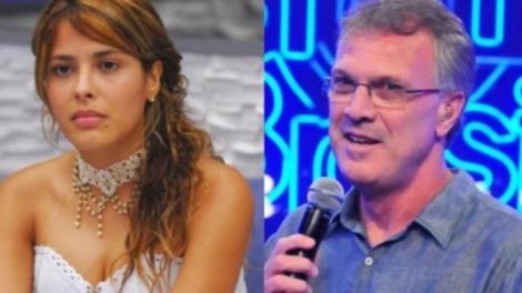 Giselly e Pedro Bial (Foto: Reprodução/Globo)