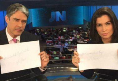 Os jornalistas da Globo no comando do Jornal Nacional - Foto: Reprodução