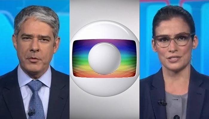 William Bonner e Renata Vasconcellos no Jornal Nacional, que passou a ter mais opinião na Globo (Foto: Reprodução/Globo)