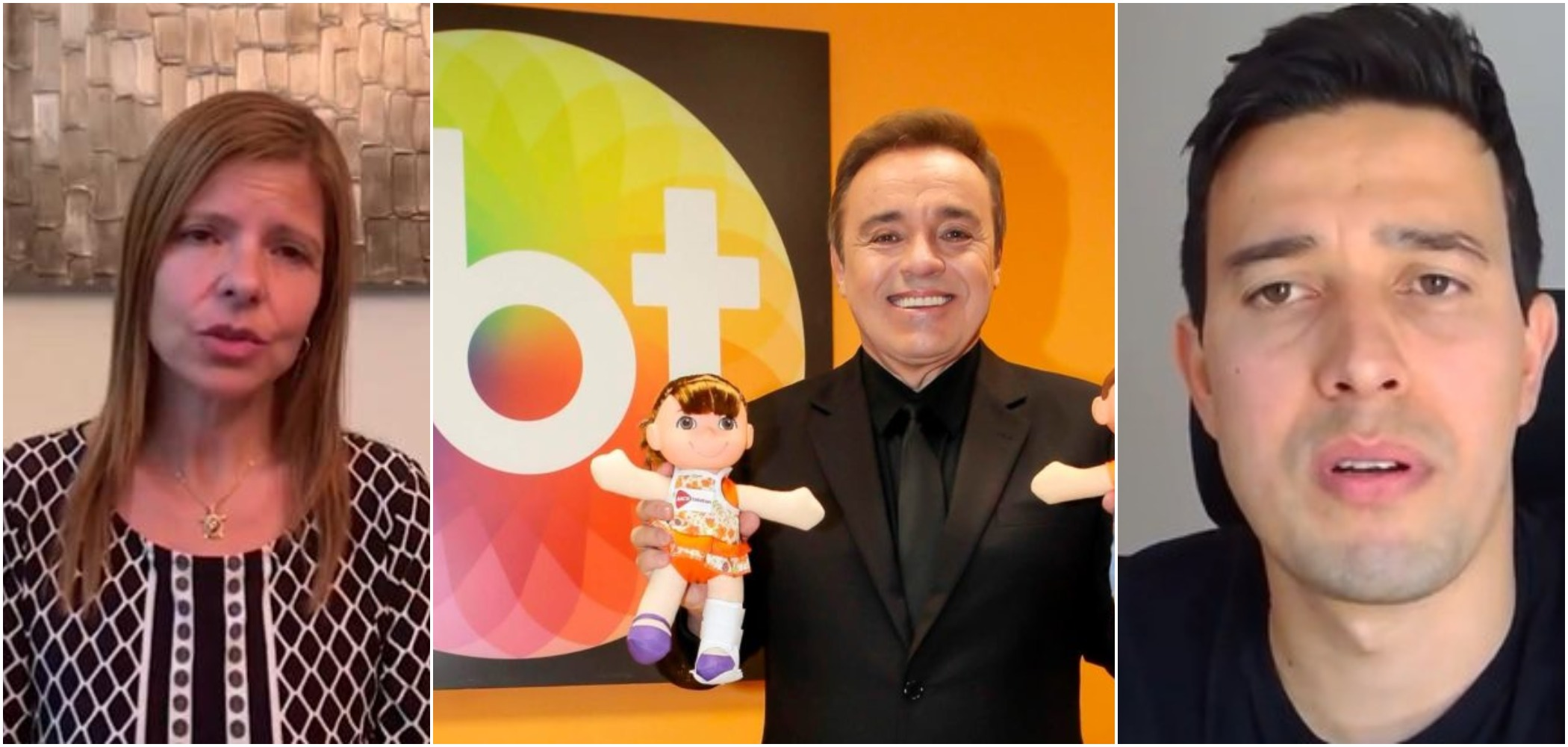 Rose Miriam, ex-companheira de Gugu, e Thiago Salvático, namorado do apresentador (Reprodução)