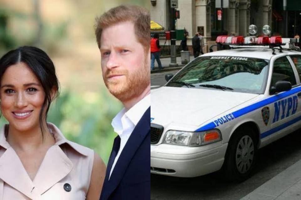 Harry e Meghan recebem polícia e casa (Foto: Reprodução)
