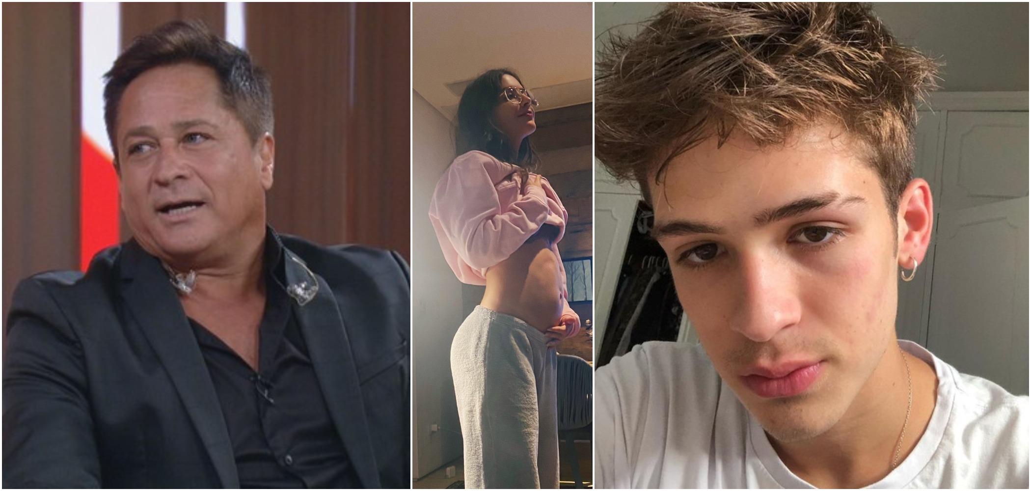 Jade Picon, namorada de João Guilherme, filho de Leonardo, negou que esteja grávida (Reprodução)