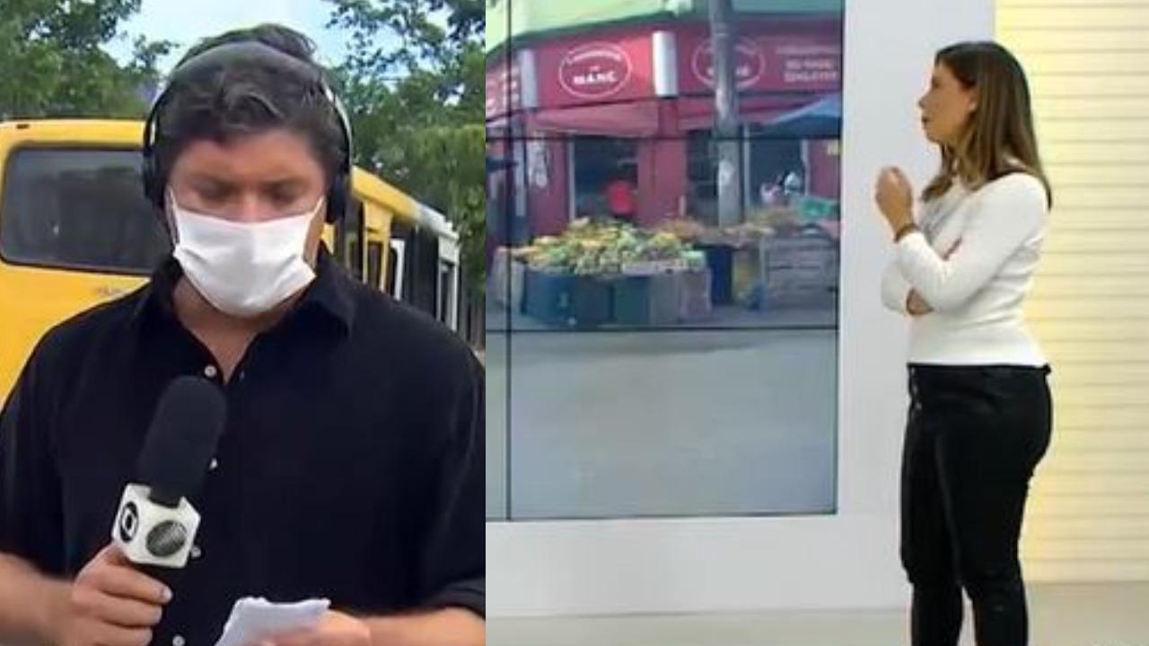 Uma polêmica aconteceu no Jornal da Manhã da TV Bahia (Foto: Reprodução/TV Globo)