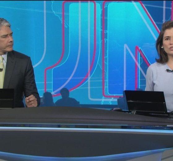 William Bonner e Renata Vasconcellos no comando do Jornal Nacional - Foto: Reprodução