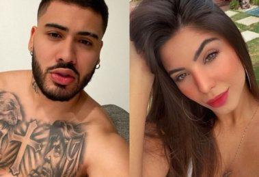 Kevinho é consolado pela namorada Gabriela Versiani após perder partida de video-game (Montagem: TV Foco)