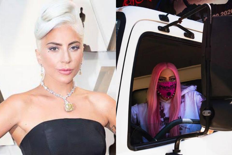 Lady Gaga vira caminhoneira para distribuir novo álbum, Chromatica (Foto: Reprodução)