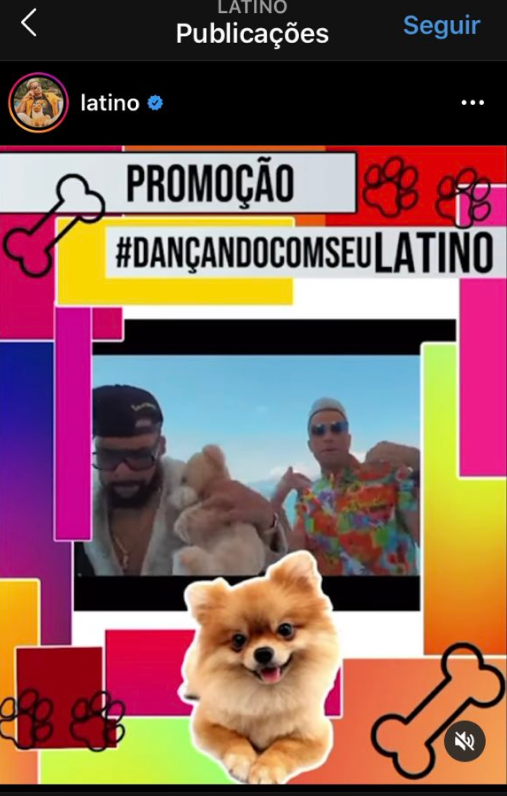 Latino faz promoção polêmica (Foto: Reprodução)