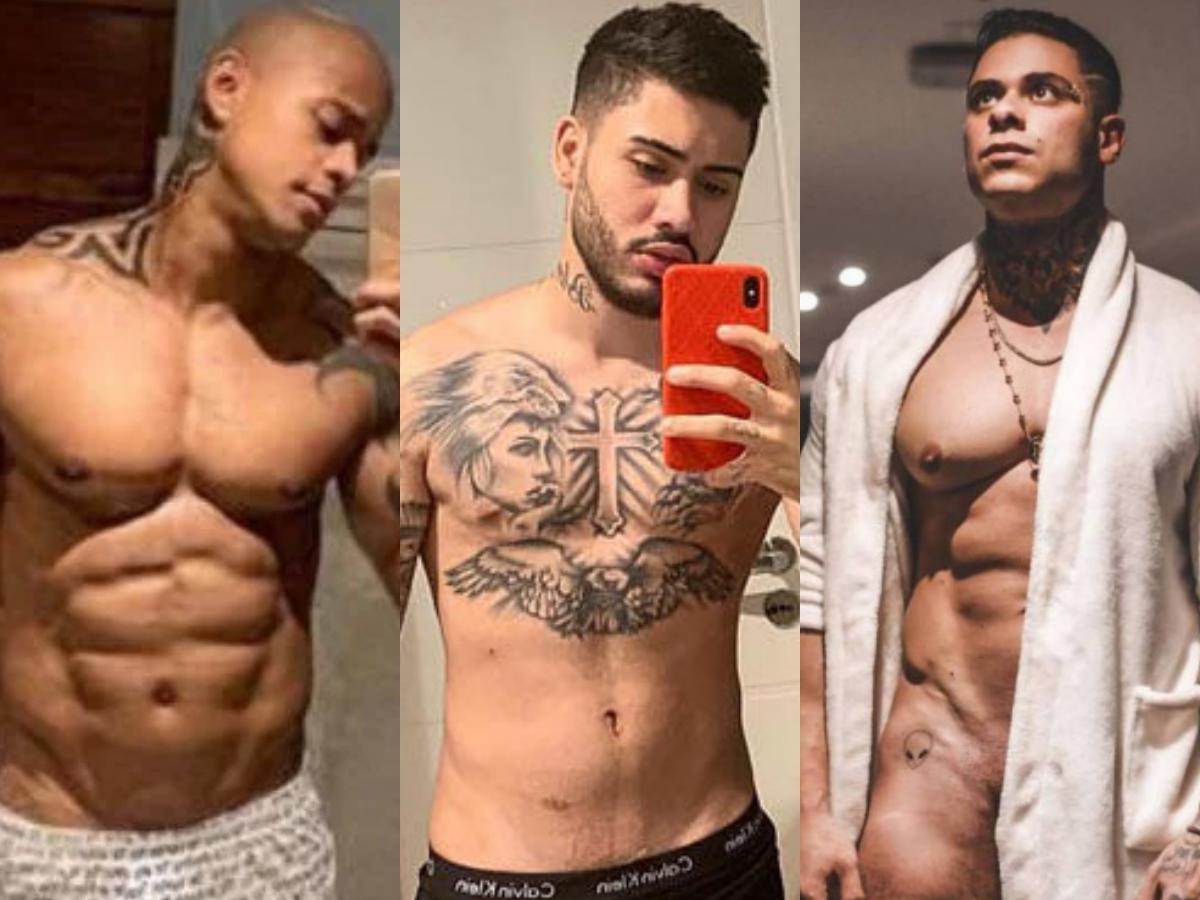 Léo Santana, Leo Stronda e Kevinho mostraram tudo nas redes sociais (Foto: Reprodução)
