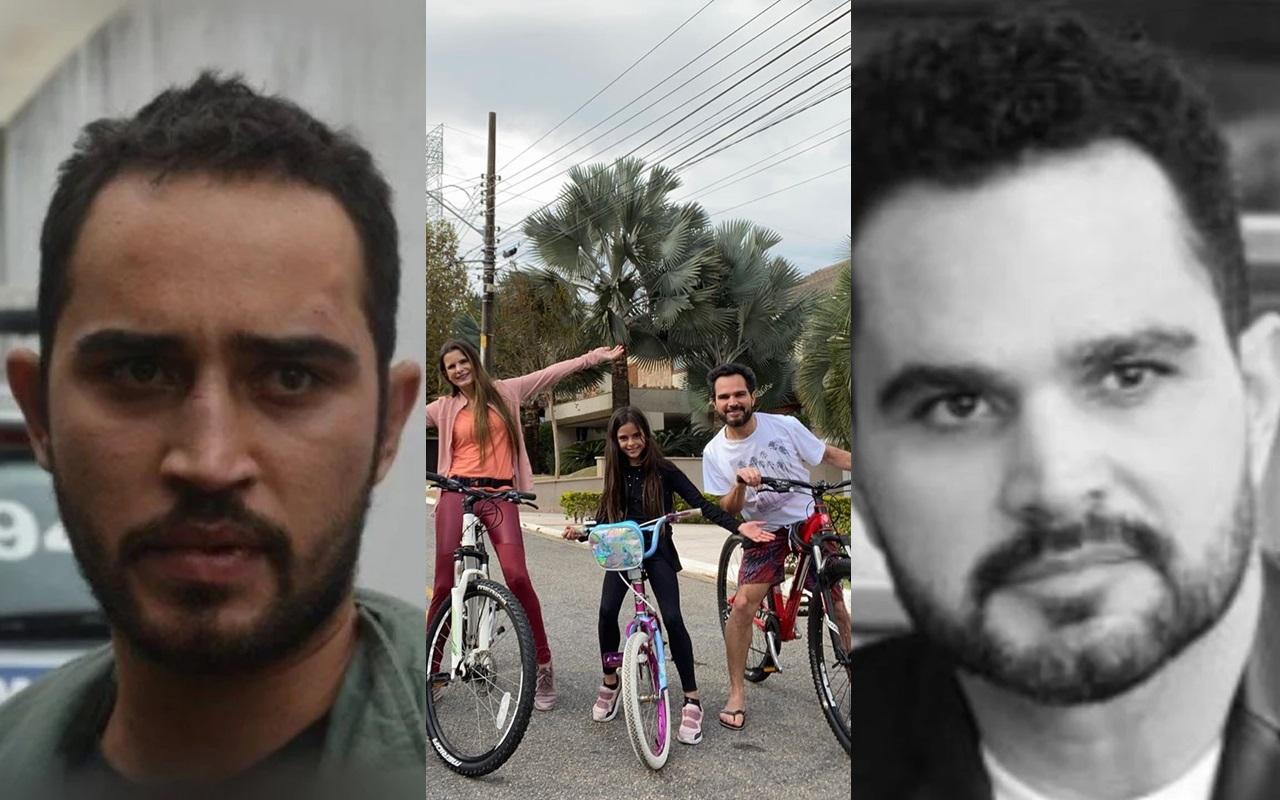 Luciano Camargo teve recado exposto após passeio com família (Foto: montagem TV Foco)