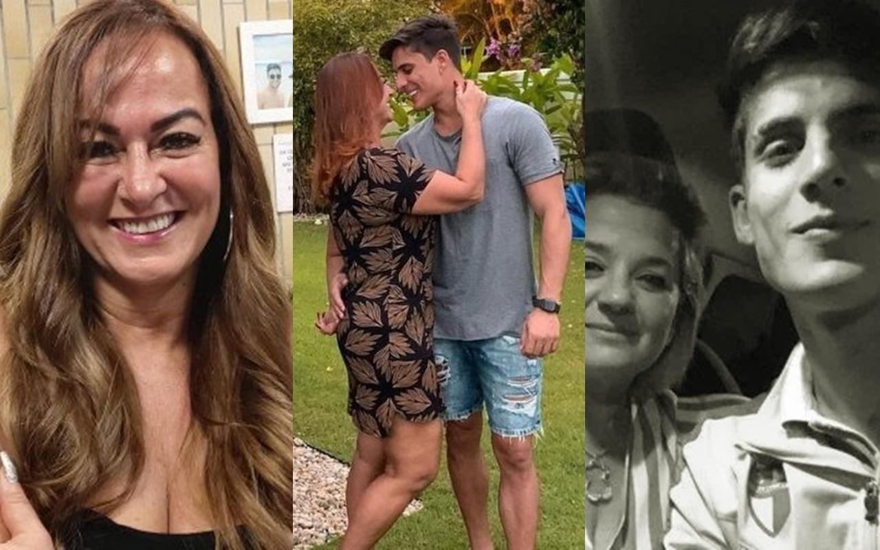 Mãe de Nyemar, Nadine Gonçalves, reatou o namoro com Tiago Ramos (Foto: Montagem TV Foco)