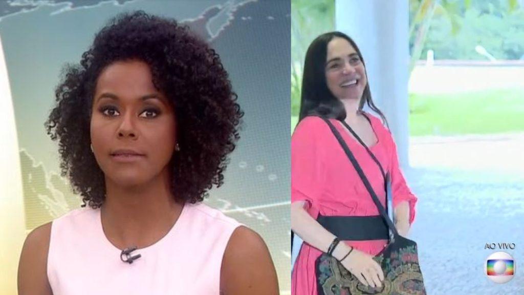 Maju Coutinho anunciou a saída de Regina Duarte da Secretaria Especial de Cultura (Foto: Reprodução/TV Globo)
