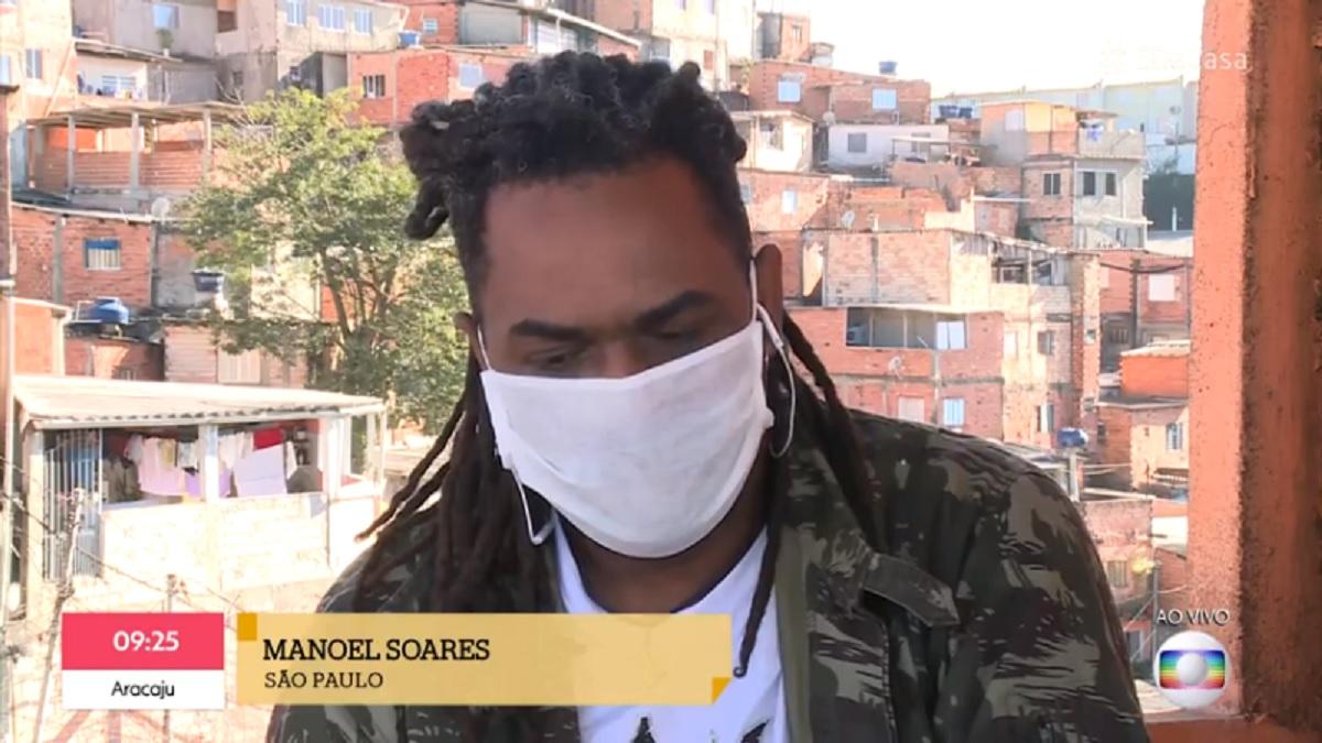 Manoel Soares desabafa ao vivo no É de Casa, da TV Globo (Foto: Reprodução)