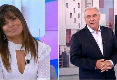 Mara Maravilha citou Marcelo Rezende ao vivo no SBT (Reprodução)