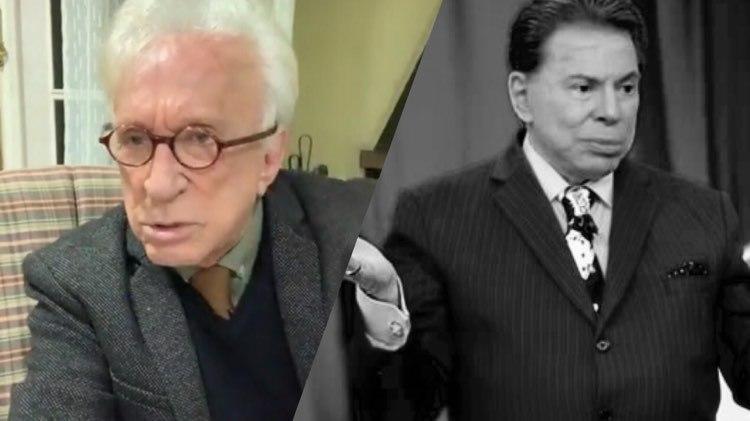 Moacyr Franco fala da música que escreveu quando recebeu a notícia da morte de Silvio Santos (Montagem: TV Foco)