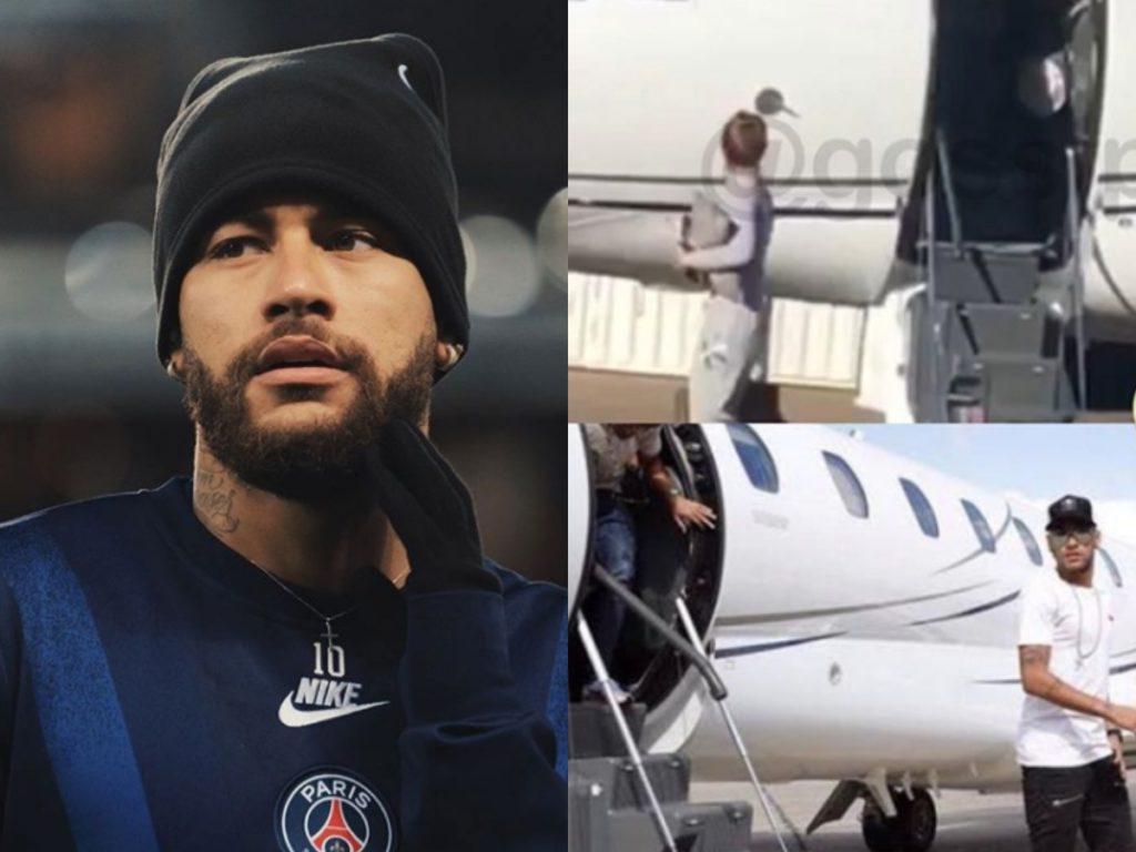 Neymar fretou jatinho para duas influencers (Foto: Montagem)