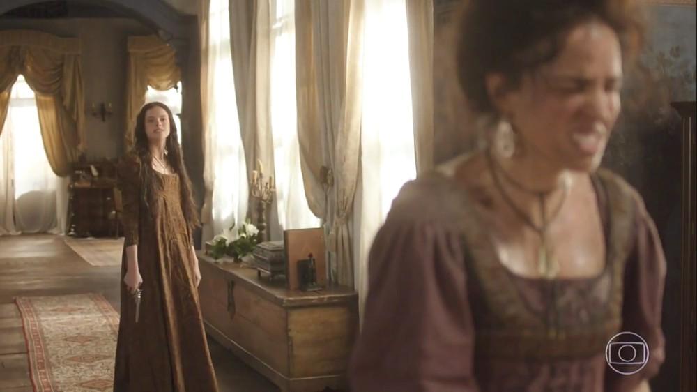 Benedita é ameaçada de morte pela própria irmã Domitila em Novo Mundo