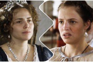 Fotomontagem mostra o paralelo do primeiro encontro de Leopoldina e Domitila na trama de Novo Mundo