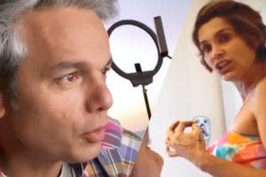 Otaviano Costa quebra ferramenta de Flávia Alessandra e atriz fica irritada em vídeo (Montagem: TV Foco)